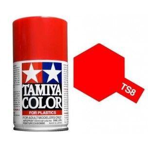 PEINTURE PLASTIQUE TAMIYA  85008 MAQUETTE TS8 ITALIAN RED ROUGE  SYRACOM MODELISME ESLETTES ROUEN NORMANDIE