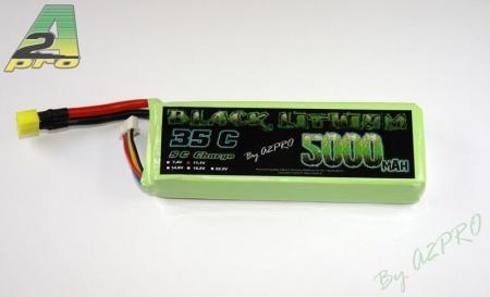 black lithium batterie 5000mah 35c 3s syracom modelisme eslettes rouen a2pro