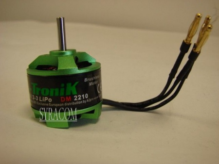 MOTEUR PROTRONIK BRUSHLESS DM2210 SYRACOM MODELISME ESLETTES AVION RADIOCOMMANDE INDOOR