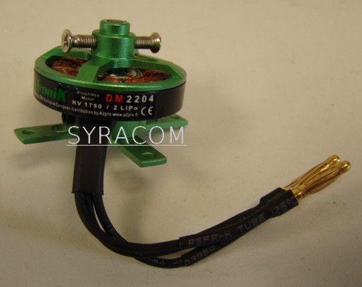MOTEUR PROTRONIK BRUSHLESS DM2204 AVION RADIOCOMMANDE INDOOR SYRACOM MODELISME ESLETTES