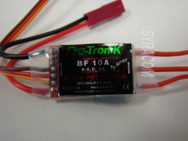 CONTROLEUR PROTRONIK BF10A SYRACOM MODELISME ESLETTES 78010 AVION INDOOR RADIOCOMMANDE MAGNUM