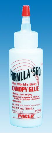 COLLE CANOPY GLUE SPECIAL VERRIERE PT56 AVION RADIOCOMMANDEE SYRACOM MODELISME ESLETTES