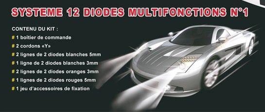 DIODES MULTIFONCTIONS 1 PHARES VOITURE RADIOCOMMANDEE SYRACOM MODELISME ESLETTES