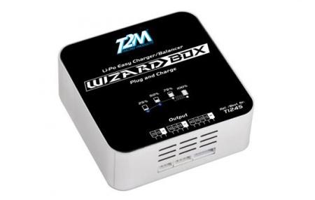 CHARGEUR WIZARD BOX LI-PO 2-4S T1245 T2M SYRACOM MODELISME ESLETTES ROUEN AVION VOITURE  HELICO QUADRICOPTERE FPV LUNETTES