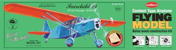 FAIRCHILD 24 MAQUETTE BOIS BALSA AVION A CONSTRUIRE S0280701