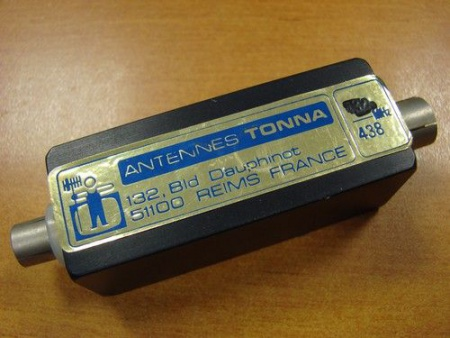 FILTRE ATV 438 RADIOAMATEUR ANTENNE TONNA SYRACOM RADIOCOMMUNICATION ESLETTES ROUEN