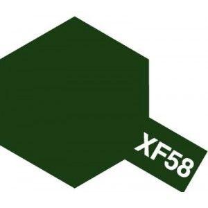 peinture  tamiya maquette XF58 OLIVE GREEN vert   acrylique char bateau voiture avion bois syracom modelisme eslettes rouen normandie