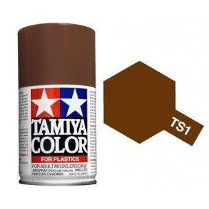 PEINTURE PLASTIQUE TAMIYA 85001 MAQUETTE TS1 MARRON ROUGE RED BROWN SYRACOM MODELISME ESLETTES ROUEN NORMANDIE