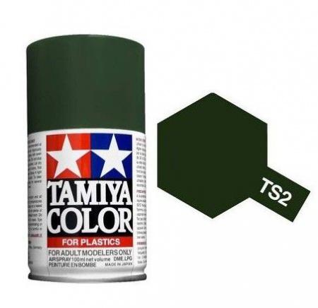 PEINTURE PLASTIQUE TAMIYA 85002 MAQUETTE TS2 DARK GREEN VERT FONCE SYRACOM MODELISME ESLETTES ROUEN NORMANDIE