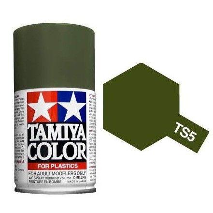 PEINTURE PLASTIQUE TAMIYA 85005 MAQUETTE TS5 OLIVE DRAB VERT OLIVE SYRACOM MODELISME ESLETTES ROUEN NORMANDIE