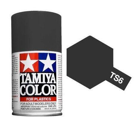 PEINTURE PLASTIQUE TAMIYA 85006 MAQUETTE TS6 MAT BLACK NOIR  SYRACOM MODELISME ESLETTES ROUEN NORMANDIE