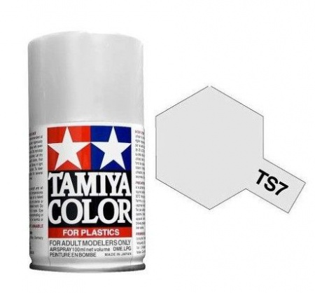 PEINTURE PLASTIQUE TAMIYA  85007 MAQUETTE TS7  RACING WHITE  SYRACOM MODELISME ESLETTES ROUEN NORMANDIE