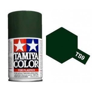 PEINTURE PLASTIQUE TAMIYA  85009 MAQUETTE TS9 VERT ANGLAIS BRITISH GREEN  SYRACOM MODELISME ESLETTES ROUEN NORMANDIE