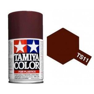 PEINTURE PLASTIQUE TAMIYA  850011  MAQUETTE TS11 MARRON  SYRACOM MODELISME ESLETTES ROUEN NORMANDIE