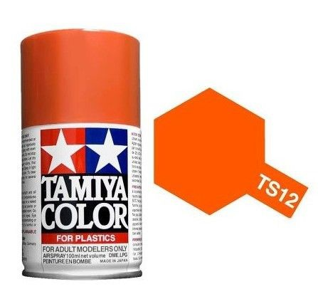 PEINTURE PLASTIQUE TAMIYA  850012  MAQUETTE TS12 ORANGE BRILLANT  SYRACOM MODELISME ESLETTES ROUEN NORMANDIE