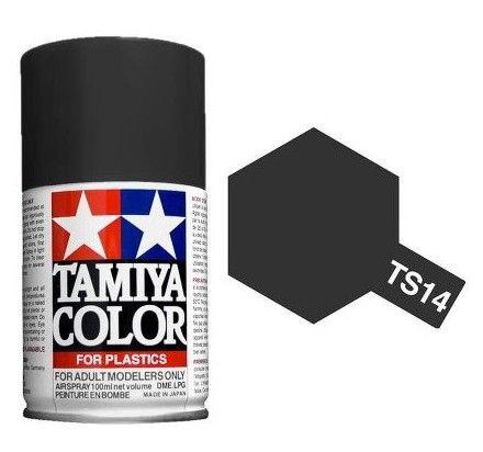 PEINTURE PLASTIQUE TAMIYA  850014  MAQUETTE TS14 NOIR  BRILLANT  SYRACOM MODELISME ESLETTES ROUEN NORMANDIE
