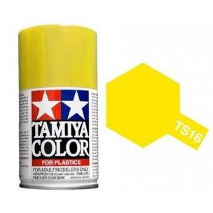 PEINTURE PLASTIQUE TAMIYA  850016  MAQUETTE TS16 JAUNE  BRILLANT  SYRACOM MODELISME ESLETTES ROUEN NORMANDIE