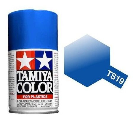 PEINTURE PLASTIQUE TAMIYA  850019  MAQUETTE TS19  BLEU METALLIC  SYRACOM MODELISME ESLETTES ROUEN NORMANDIE
