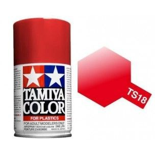 PEINTURE PLASTIQUE TAMIYA  850018  MAQUETTE TS18 ROUGE METALLIC  SYRACOM MODELISME ESLETTES ROUEN NORMANDIE