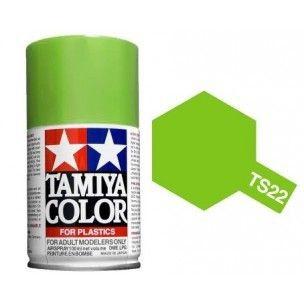 PEINTURE PLASTIQUE TAMIYA  850022  MAQUETTE TS22  LIGHT GREEN BRILLANT  SYRACOM MODELISME ESLETTES ROUEN NORMANDIE