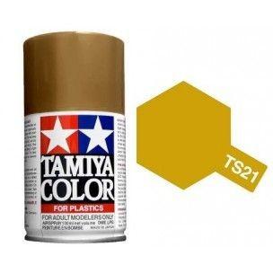 PEINTURE PLASTIQUE TAMIYA  850021  MAQUETTE TS21  OR  BRILLANT  SYRACOM MODELISME ESLETTES ROUEN NORMANDIE