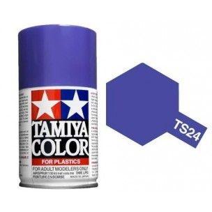 PEINTURE PLASTIQUE TAMIYA  85024  MAQUETTE TS24 VIOLET  BRILLANT  SYRACOM MODELISME ESLETTES ROUEN NORMANDIE