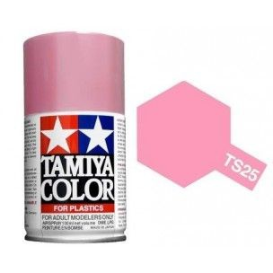 PEINTURE PLASTIQUE TAMIYA  85025  MAQUETTE TS25 ROSE PINK  BRILLANT  SYRACOM MODELISME ESLETTES ROUEN NORMANDIE