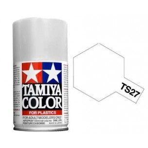 PEINTURE PLASTIQUE TAMIYA  850027  MAQUETTE TS27  BLANC  MAT  SYRACOM MODELISME ESLETTES ROUEN NORMANDIE