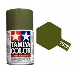 PEINTURE PLASTIQUE TAMIYA  850028  MAQUETTE TS28  OLIVE DRAB 2 VERT SYRACOM MODELISME ESLETTES ROUEN NORMANDIE