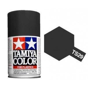 PEINTURE PLASTIQUE TAMIYA  85029  MAQUETTE TS29 SEMI GLOSS BLACK NOIR SATINE  SYRACOM MODELISME ESLETTES ROUEN NORMANDIE
