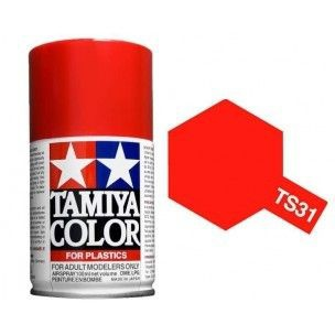 PEINTURE PLASTIQUE TAMIYA  850031  MAQUETTE TS31  BRIGHT ORANGE BRILLANT  SYRACOM MODELISME ESLETTES ROUEN NORMANDIE