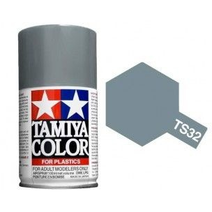 PEINTURE PLASTIQUE TAMIYA  85032 MAQUETTE TS32 HAZE GREY  GRIS NUAGE BROUILLARD  BRILLANT  SYRACOM MODELISME ESLETTES ROUEN N