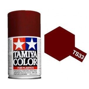PEINTURE PLASTIQUE TAMIYA  85033  MAQUETTE TS33 DULL RED ROUGE TERRE MARRON  MAT  SYRACOM MODELISME ESLETTES ROUEN NORMANDIE