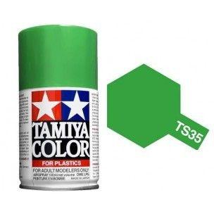 PEINTURE PLASTIQUE TAMIYA  85035  MAQUETTE TS35  VER HERBE GAZON BRILLANT  SYRACOM MODELISME ESLETTES ROUEN NORMANDIE