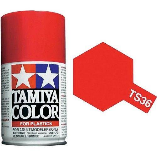 PEINTURE PLASTIQUE TAMIYA  85036  MAQUETTE TS36  ROUGE FLUO  SYRACOM MODELISME ESLETTES ROUEN NORMANDIE