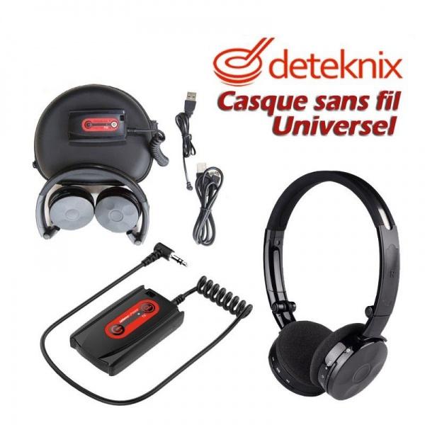 CASQUE SANS FIL UNIVERSEL DETEKNIX W6 LITE PRISE JACK 6