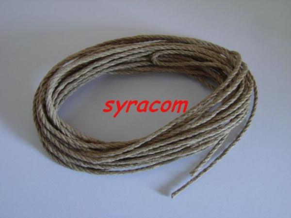 ficelle de gréement Ø 2 bâteau cordonnet  écru COREL C-284  syracom modelisme accastillage