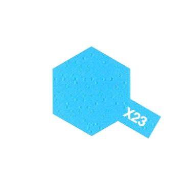 PEINTURE TAMIYA X23 CLEAR BLUE BLEU CLAIR  MAQUETTE SYRACOM MODELISME ESLETTES ROUEN NORMANDIE