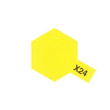 PEINTURE TAMIYA X24 clear yellow jaune clair translucide  MAQUETTE SYRACOM MODELISME ESLETTES ROUEN NORMANDIE