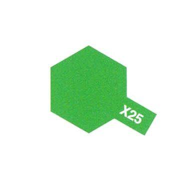PEINTURE TAMIYA X25 CLEAR GREEN VERT CLAIR TRANSLUCIDE  MAQUETTE SYRACOM MODELISME ESLETTES ROUEN NORMANDIE