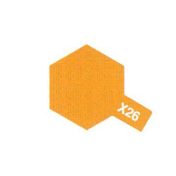 PEINTURE TAMIYA X26 CLEAR ORANGE CLAIR TRANSLUCIDE  MAQUETTE SYRACOM MODELISME ESLETTES ROUEN NORMANDIE