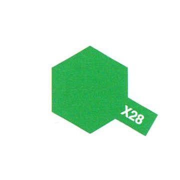 PEINTURE TAMIYA X28 VERT PRE BRILLANT PARK GREEN  MAQUETTE SYRACOM MODELISME ESLETTES ROUEN NORMANDIE