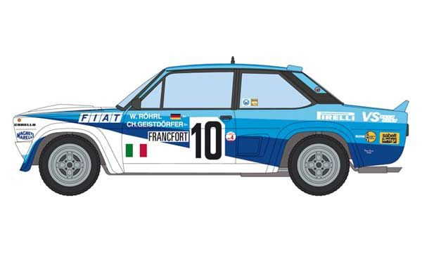FIAT 131 ABARTH RALLY I3662 ITALERI VOITURE MAQUETTE A COLLER SYRACOM MODELISME ESLETTES ROUEN NORMANDIE DIEPPE LE HAVRE