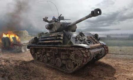 CHAR M4A3ES SHERMAN I6529 TAMIYA MAQUETTE A CONSTRUIRE SYRACOM MODELISME ESLETTES ROUEN NORMANDIE