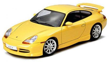 PORSCHE 911 GT3 MAQUETTE TAMIYA 24229 JAUNE SYRACOM MODELISME ESLETTES ROUEN NORMANDIE
