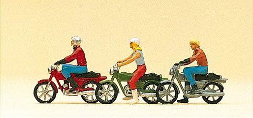 MOTOCYCLISTE PREISER MAQUETTE FERROVIAIRE AGRICOLE SYRACOM MODELISME ESLETTES ROUEN NORMANDIE