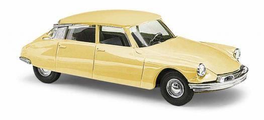 citroen ds19 jaune busch BUV48037 HO MAQUETTE MINIATURE VOITURE SYRACOM MODELISME ESLETTES ROUEN