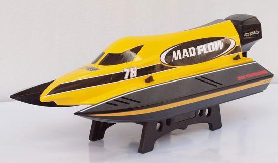 mad flow F1 Bateau radiocommandé jaune électrique z0218653c syracom modélisme eslettes rouen normandie