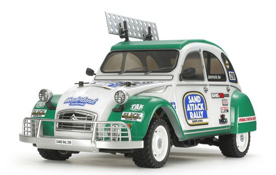 CITROEN 2CV RALLY M05Ra TAMIYA MAQUETTE VOITURE RADIOCOMMANDEE A CONSTRUIRE COLLER PEINDRE SYRACOM MODELISME ESLETTES ROUEN NORMANDIE