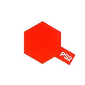 PEINTURE TAMIYA PS2 ROUGE  86002 BOMBE CAROSSERIE POLYCARBONATES SYRACOM MODELISME ESLETTES ROUEN NORMANDIE